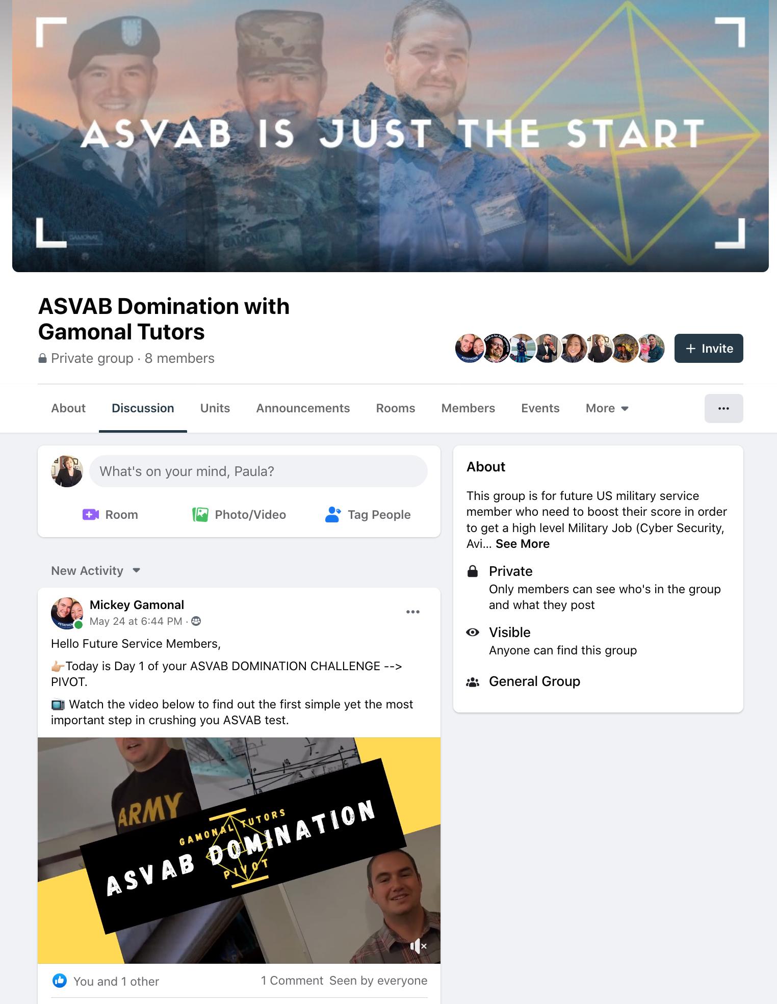 ASVAB Challenge Facebook Group